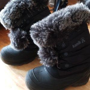Girls Size 13 Kamik Black Winter Boots
